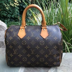 💯% Authentic Louis Vuitton Monogram Speedy 25 ❤️